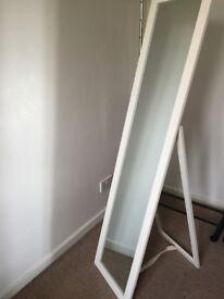 HOME Wooden Full Length Cheval Mirror - White