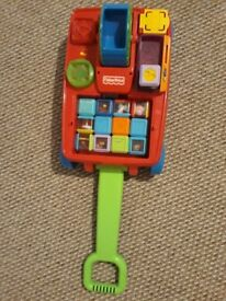 Fisher price pulling toy with blocks