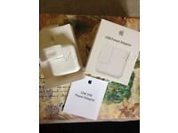 GENUINE APPLE USB Power Adapter Wall Charger Mains Plug 12W For iPad*MD836ZP/A (A1401)