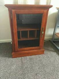 Wood and glass cabinet (small)