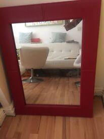 Decent condition red framed mirror