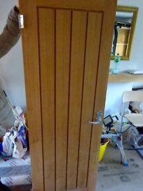 Solid oak interrnal door