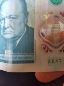 Ak47 £5 note