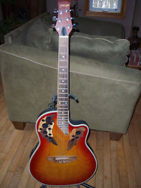 Stagg acoustic/electric 6 string guitar.