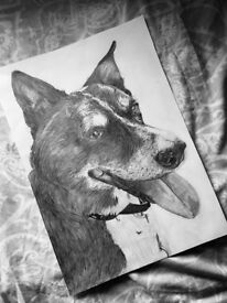 Hand Drawn Portraits For Sale
