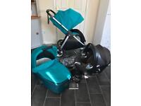 mamas and papas armadillo flip pram pushchair travel system buggy stroller cybex aton q car 3in1