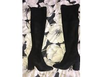 Black knee high boots size 5