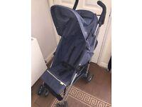 Babies r us Child Kids Pushchair Pram Buggy Stroller Navy