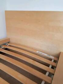 Single ikea bed frame - birch veneer