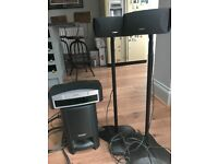 Bose 321 Sound System with two standing speakers