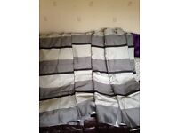 2sets of striped curtains