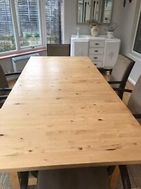 Table for 6 and 8 seat