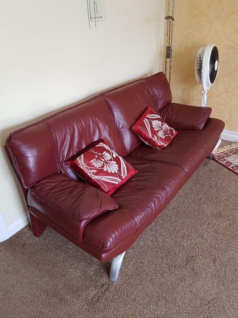 Maroon Coloured Second Hand Sofa Set