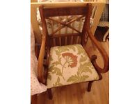 Nice wooden chair with upholstery