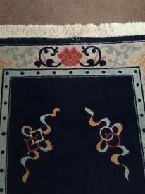 Dark blue oriental rug
