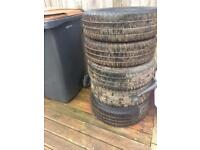Free VW transporter T5 Steel Wheels and tyres 205/65/16 Continental