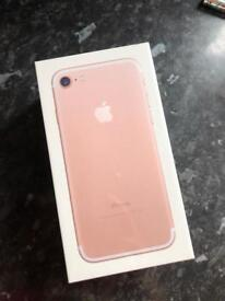 Brand new sealed iPhone 7 128GB Rose Gold