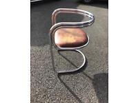 Retro Vintage Bauhaus style Chrome Chair