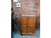 Solid pine storage cupboard unit