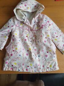 Girls unicorn raincoat Aged 5-6