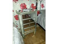 Mirror Bedside Cabinets x 2/for both