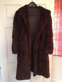 Vintage fur coat from 1950/60s.