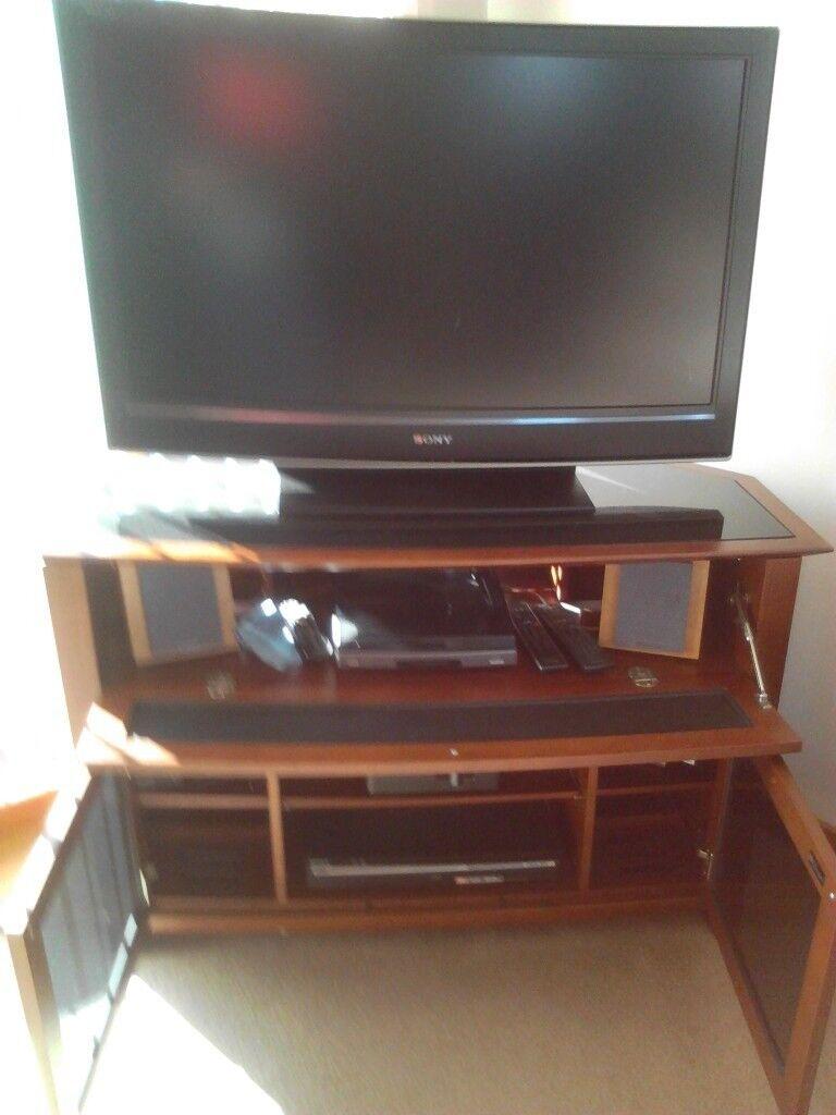 Bdi Real Cherrywood Corner Tv Stand In East End Glasgow Gumtree