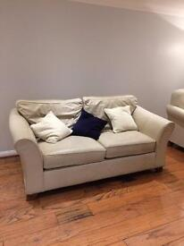 Marks & Spencer large 2 seater sofa in cream leather.