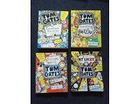 Tom Gates Childrens Books set of 4