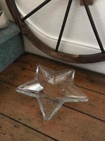 Lovely large glass star bowl