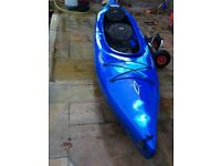 Danger Blackwater two crew canoe in good condition comes with transporting wheels