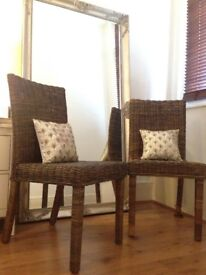 X2 Wicker Dining Room Chairs