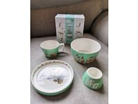 Roald Dahl BFG 4 Piece Stacking Childrens Breakfast Set - Gift Boxed. RRP £24.99