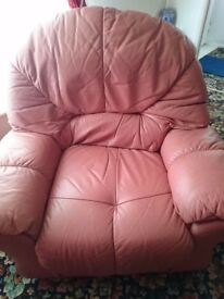 Free. Pink arm chair