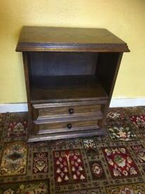 Solid oak side table / bedside table