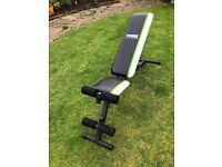 York fitness weight training bench