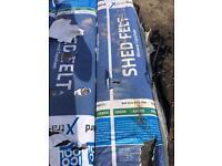 Green mineral shed felt 10mtr rolls £10 each