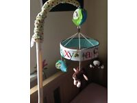Baby musical cot mobile