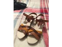 Next brown strapped sandals