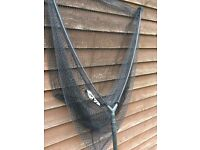 Carp fishing net with pole