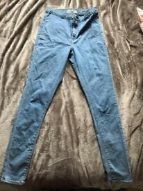 Woman's Topshop Joni jeans