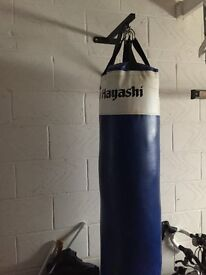 Hayashi 4 ft punch bag with 2 pairs of training mits
