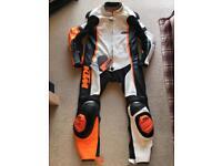 KTM RSX 14 CUSTOM LEATHER RACE SUIT CLOTHING EUR L/52 GIMOTO POWERWEAR SMC DUKE