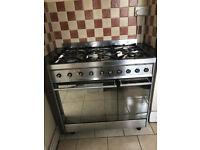 Used Smeg range cooker 90cm