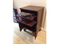 Vintage 1930s Plus-A-Gram record player/record storage cabinet