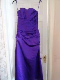 2 x cadbury purple bridesmaid dresses