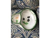 Hand painted olive bowl serving plate