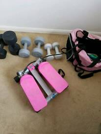 Hand Weights and exercise machine
