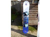 Salamon snowboard 159 cm and flow bindings