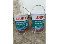 Weatherproof wood protecting gel